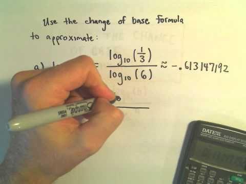 Change of Base Formula for Logarithms