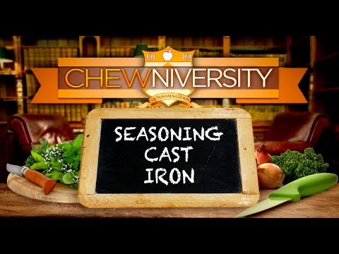 The Chew Tip: How to Season Your Cast Iron Skillet!