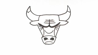 0545 how to draw the chicago bulls logo