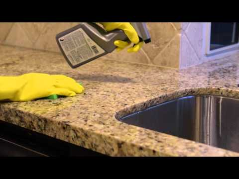 Cleaning Natural Stone Tile and Counter Tops with Aqua Mix