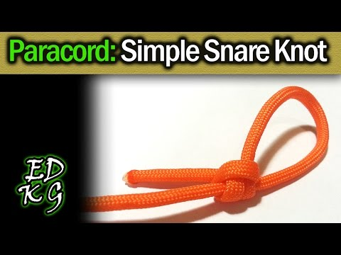 Simple Paracord: Easy Snare Knot (basic Poachers Snare)