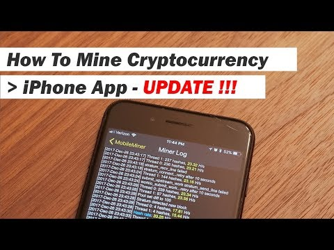 iPhone Cryptocurrency Miner UPDATE!