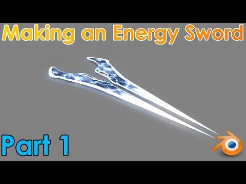 Making an Energy Sword in Blender Part 1   Modelling the Sword