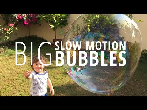 Big Bubbles in Slow Motion - iphone 6s 240fps