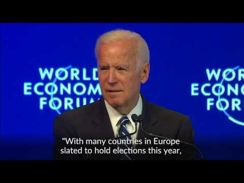Biden signs off with swipe at Russia