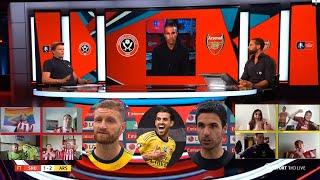 Sheffield United vs Arsenal 1-2 VAR & Dani Ceballos To The Rescue! Arteta, Robin van Persie Reaction