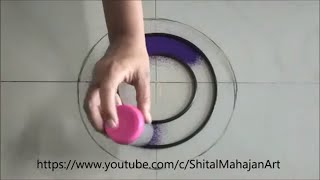 very easy and attractive rangoli for festivals|easy and quickrangoli design| by Shital Mahajan