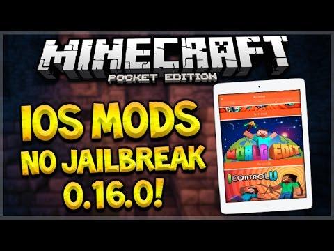 iOS MCPE 0.16.0 MODS NO JAILBREAK OR PC! Minecraft Pocket Edition - 0.16.0 No Vanilla Update