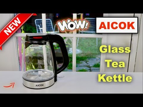 😍  AICOK Glass Electric Tea Kettle  - Review   ✅