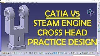 Connecting Rod in CATIA V5 | CATIA V5 Practice Designs | CAD