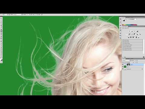 Masking Difficult Hair using Alpha Channels   Advanced in Photoshop