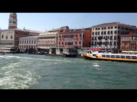 Water taxi ride to cruise ship Terminal in Venice, Italy..