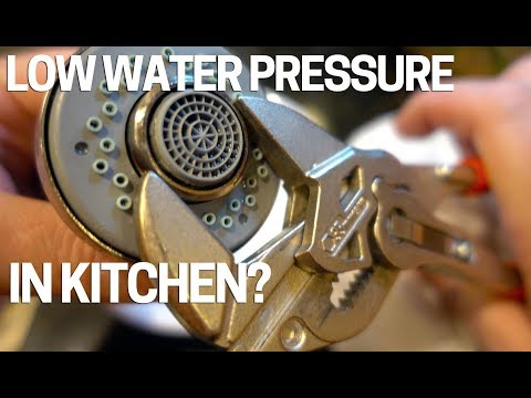 Low Water Pressure/Flow Kitchen Faucet - Easy Fix Video