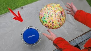 Experiment: 10.000 Orbeez Vs Trampoline