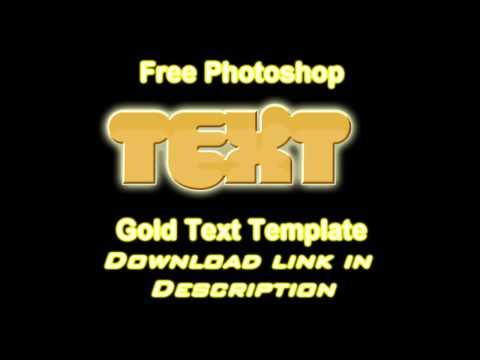 Free Photoshop (CS3,CS4,CS5) 3D Gold Text Template