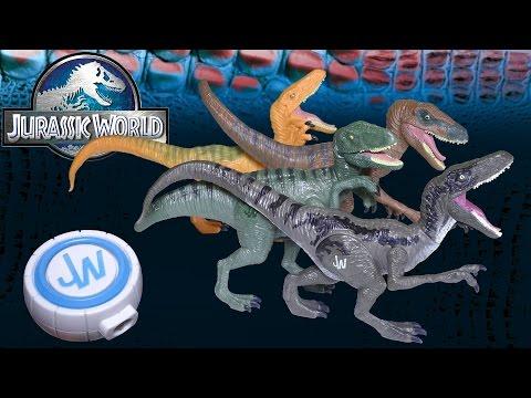 Opening: Jurassic World Velociraptor 4-Pack TARGET Exclusive - Blue, Charlie, Delta, Echo + LED