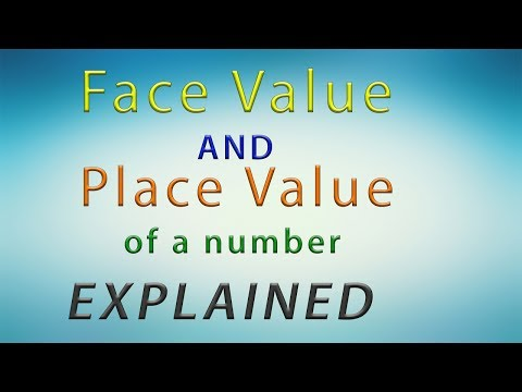 How to find face Value and place Value of a number