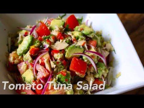 Super Easy Tomato Tuna Avocado Salad