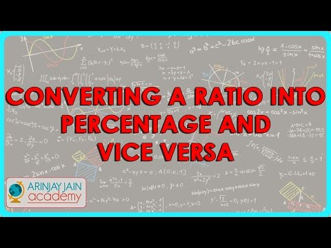 Converting a Ratio into percentage and vice versa