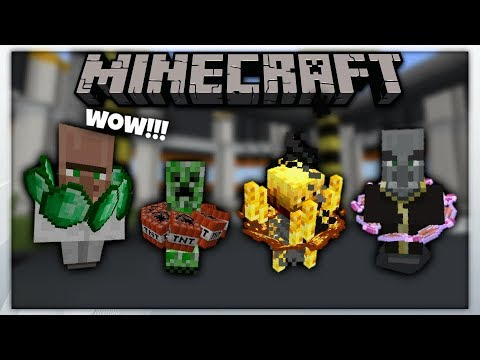 MCPE 1.2 || Mobs Evolved Using Armor Stand || Minecraft Pe