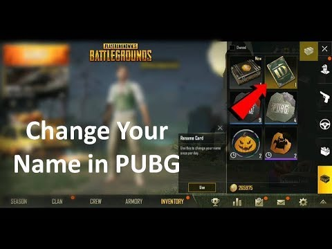 How to Change Your Name in PUBG Mobile in Hindi