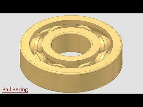 🔖 Ball Bearing || Autodesk Inventor Tutorial