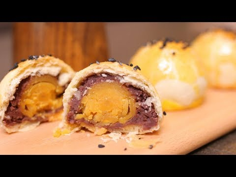 AMAZING CHINESE PASTRY RECIPE [蛋黄酥] – Super Savory Salted Egg Filling!