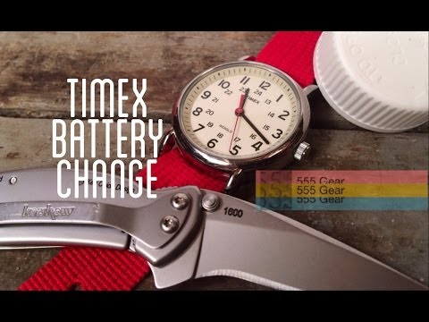 How-To: Change A Battery On A Timex Weekender Quartz Snap Caseback Watch With Household Items