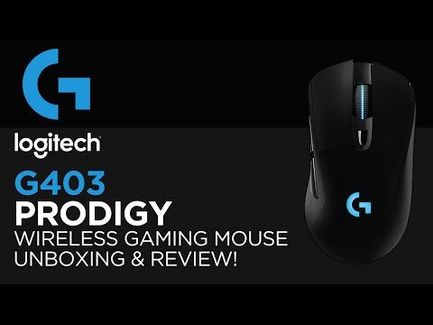 Logitech G403 Prodigy Wireless Gaming Mouse Unboxing & Review!