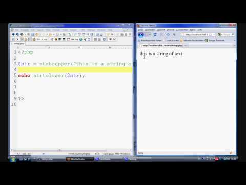 PHP Tutorial - String manipulation (strtoupper / strolower / ucwords / ucfirst)