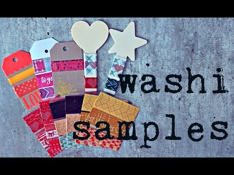 3 ways to make Washi Tape Samples for Penpals