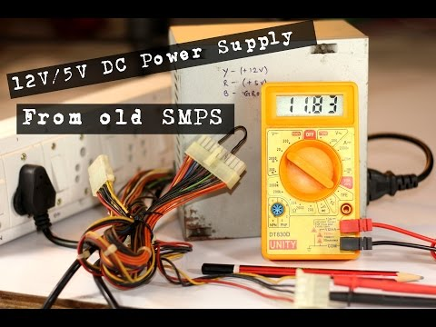How to Make 12V/5V DC Power Supply with Computer Power Supply