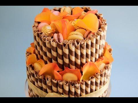Chocolate Wafer Stick Cake Tutorial Two Tier- Rosie's Dessert Spot