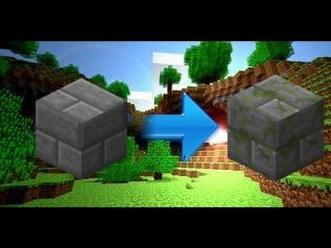 How to Turn Stone Bricks into Mossy Stone Bricks | Minecraft Glitch 1.7.10 or Lower