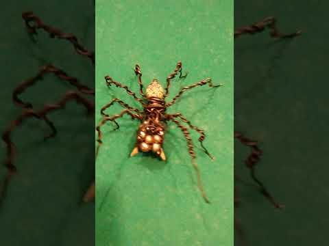 Spider wire sculpture