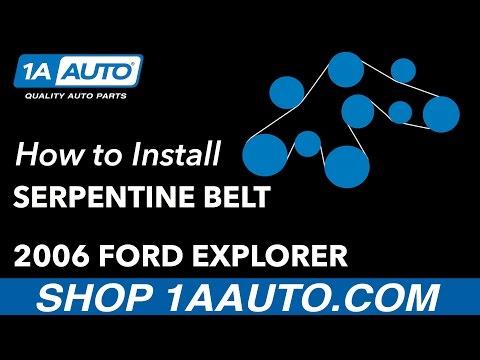 How to Remove Reinstall Serpentine Belt V8 4.6L 2006-10 Ford Explorer