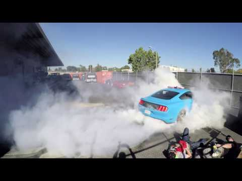 Mannequin Challenge x Hoonigan x Ford Mustang x Pizza party at the Donut Garage.