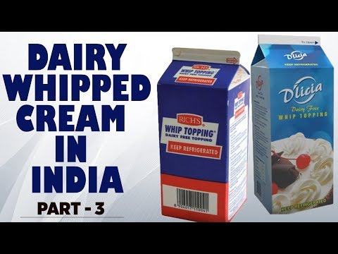 Dairy Whipped Cream In India Part 3 | Whipped Cream | Non Dairy Cream | Cream cake