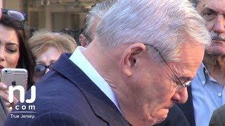 Menendez speaks after jury deadlocked, mistrial declared