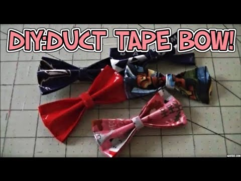 DIY:Duct Tape Bow Tutorial! 🎀
