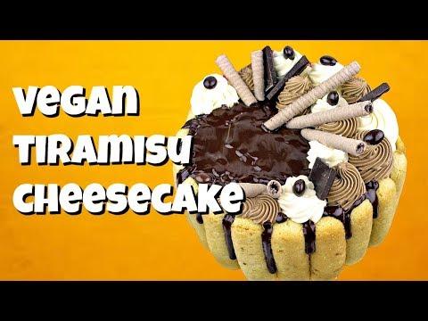 Vegan Tiramisu Cheesecake || Gretchen's Vegan Bakery