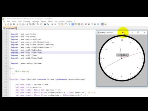 How to make Analogue clock in java | Analog clock in java with source code