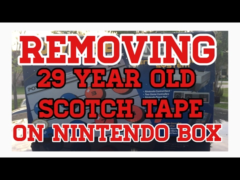 Removing 29 Year Old Scotch Tape On Original Nintendo Box