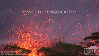 5-13-2018 Pahoa, Hi Absolutely stunning volcanic eruption with huge lava sprays out fissure 18 4k