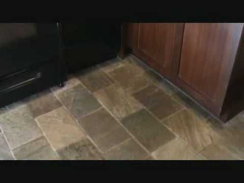 How to clean a natural stone tile floor....introduction only