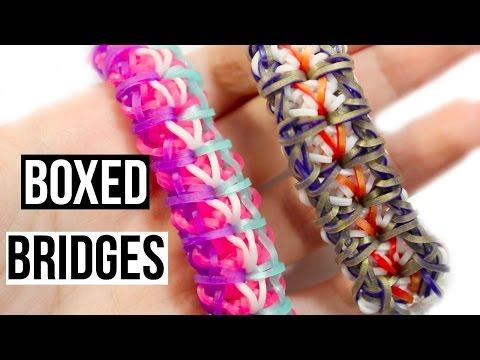 Rainbow Loom Boxed Bridges Bracelet | One Loom Tutorial