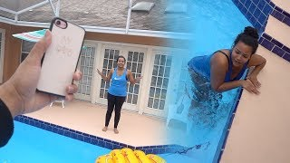 Angry Boyfriend Throws Iphone X In The Pool Prank Gone Very Wrong revenge Prank