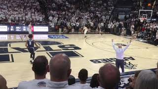 Video (slow-mo at end) of Nevada-Utah State court-storming & handshake line (from Section A, Row 7)