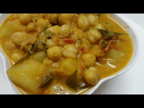 கொண்டைக்கடலை உருளைக்கிழங்கு குருமா/Potato Channa kurma/Side dish for idli dosa chapathi chola poori