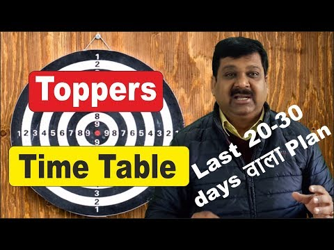 | How Toppers Make their Time Table | How to make Study Time Table | Toppers Time Table |